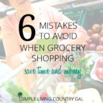 6 mistakes to prevent when food shopping.