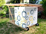 Innovative chicken coop you can move around your garden