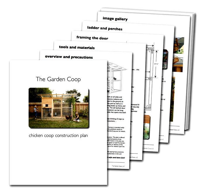 Free chicken coop design plan previews from TheGardenCoop.com