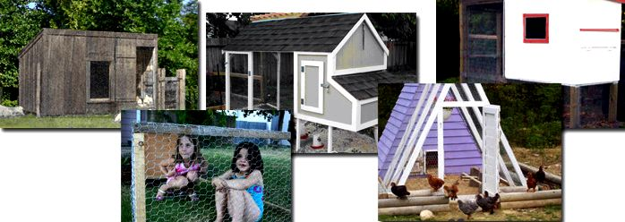 photos of chicken coops built using these plans - most of these projects can be completed in one or two weekends.