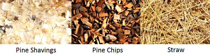 straw vs pine shavings vs pine chips