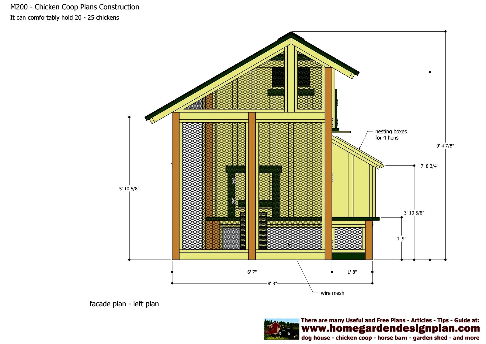 Building a chicken house, including free plans - sunset screws with the back and