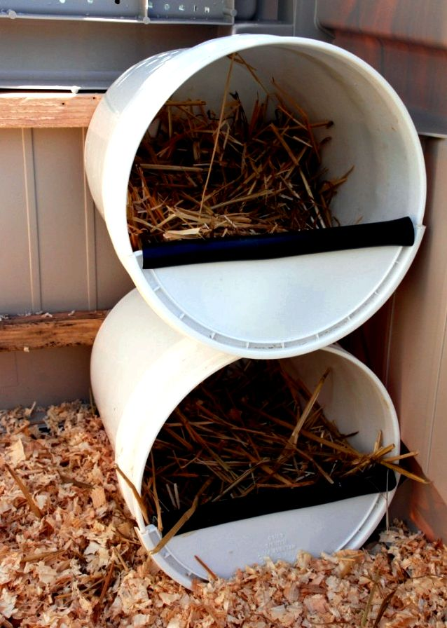 Top Ten chicken nesting boxes could be lined with wood
